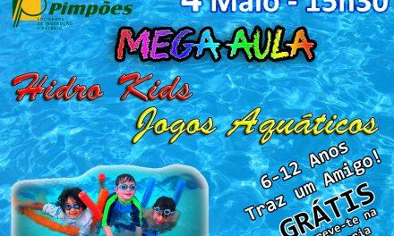 Mega Aula Hidro Kids / Jogos Aquáticos – 6 aos 12 anos