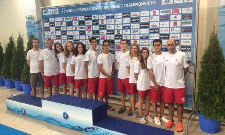 Inês Henriques integra o quarteto feminino que obtêm um novo máximo nos 4x200L Absoluto, nos Campeonato Europeus de Juniores