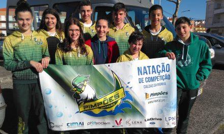 Atletas Infantis dos Pimpões/Cimai testam a sua forma na Nazaré