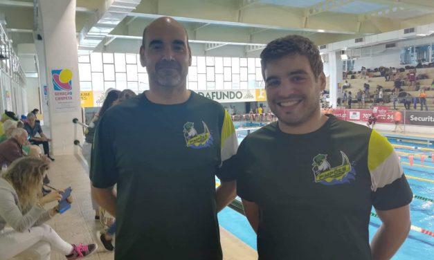 Francisco Ferraz e Rui Isabel representam os Pimpões no 7º Torneio Natação Master do Algés