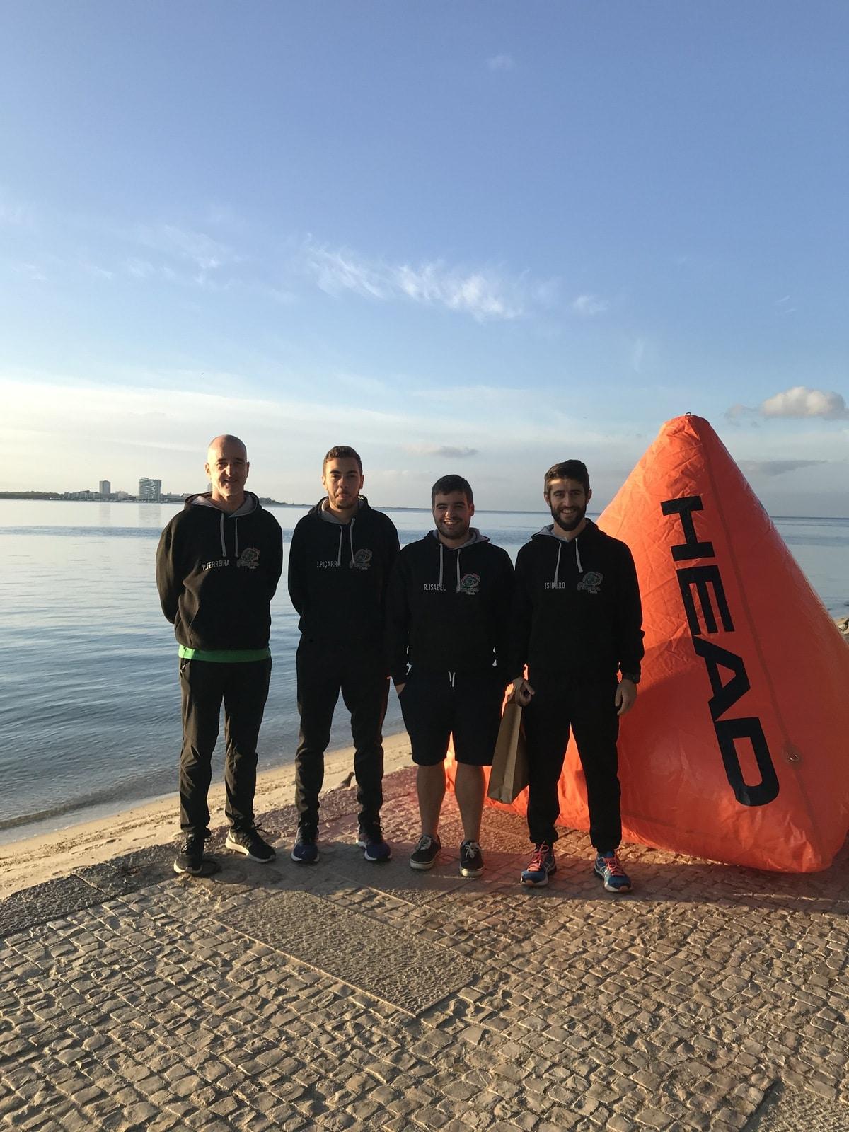 Atletas dos Pimpões Triatlo no Arrábida Swimrun 2019