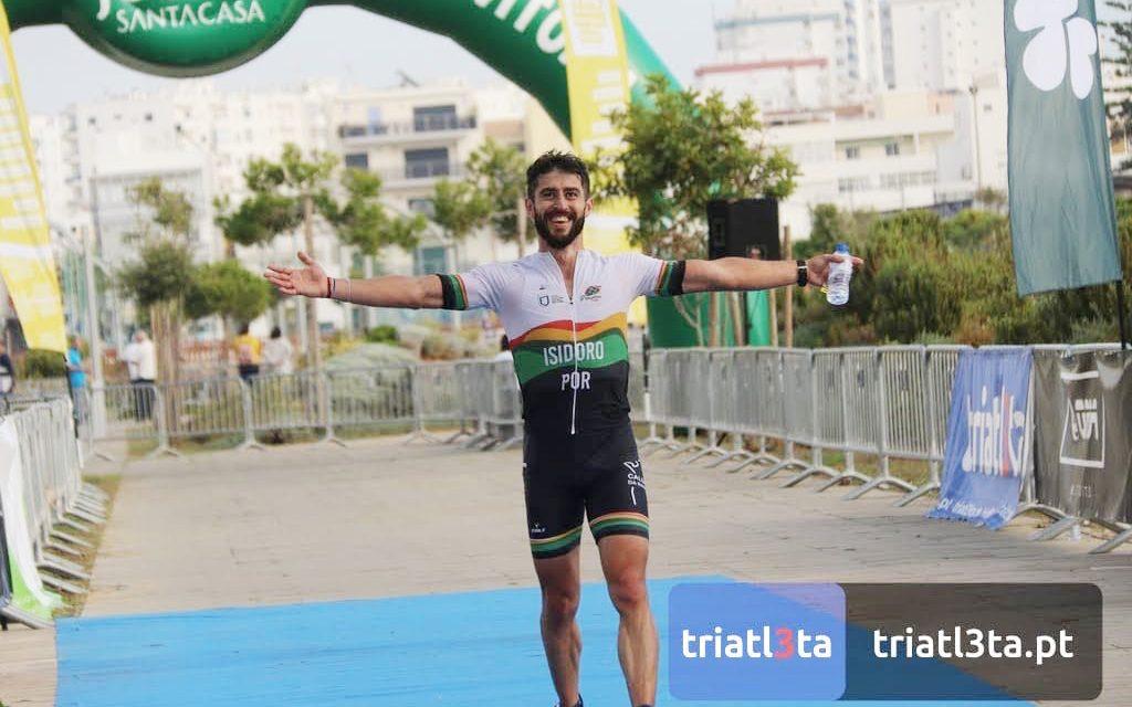 Excelente prestação de Tiago Isidoro no Triatlo longo de Vilamoura
