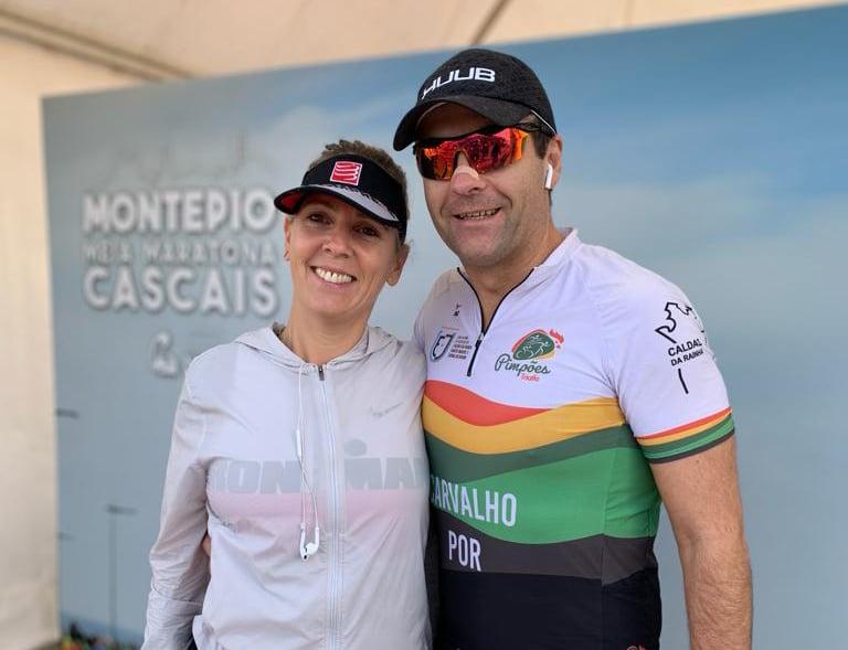 Bruno de Carvalho e Sofia Nogueira na Meia Maratona de Cascais