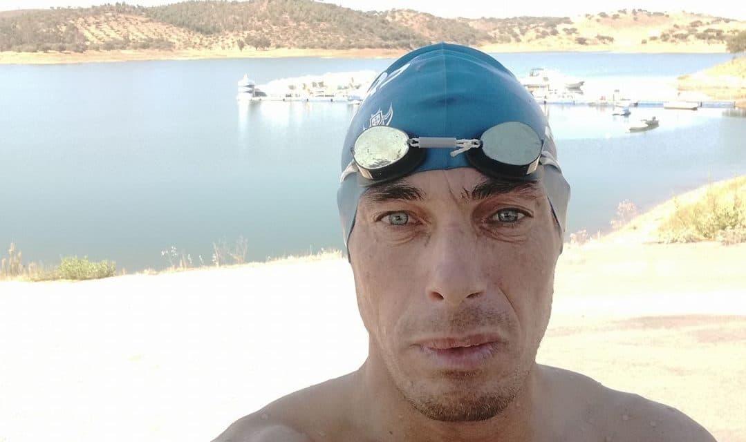 Atleta dos Pimpões Abílio António participou no Setúbal Open Water